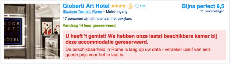 Hoe Booking.com met slimme online trucs bezoekers overtuigt